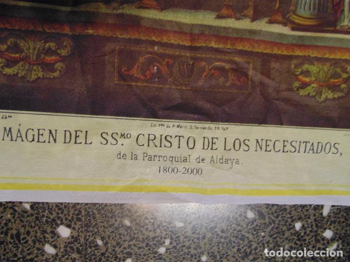 Arte: LITOGRAFIA RELIGIOSA SOBRE TELA DE -IMAGEN DE SSmo.CRISTO DE LOS NECESITADOS- P.ALDALLA. CARLOS F.y - Foto 2 - 120150759