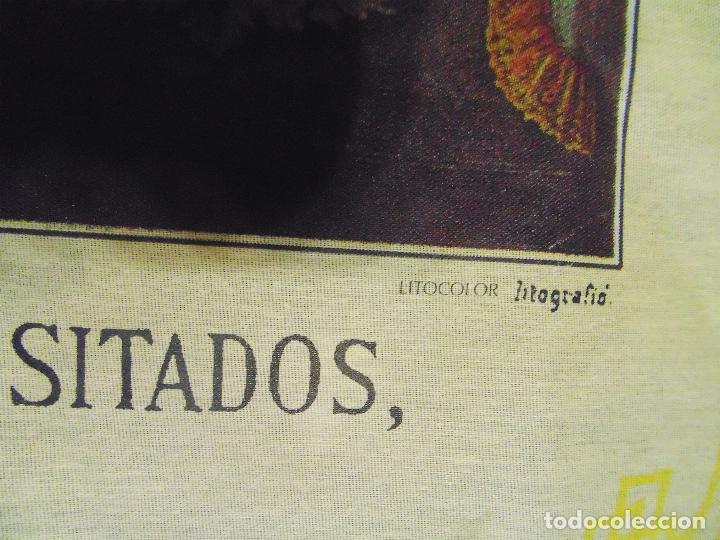 Arte: LITOGRAFIA RELIGIOSA SOBRE TELA DE -IMAGEN DE SSmo.CRISTO DE LOS NECESITADOS- P.ALDALLA. CARLOS F.y - Foto 3 - 120150759