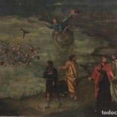Arte: ESCENA DEL MAR ROJO EJERCITO EGIPCIO HUNDIDO - ESCUELA ESPAÑOLA XIX. Lote 120302423
