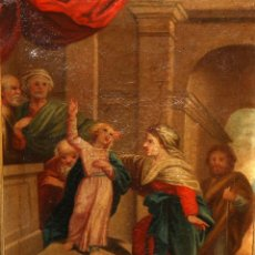 Arte: ESCUELA ESPAÑOLA DE PRINCIPIOS DEL SIGLO XIX. OLEO SOBRE TELA DE TEMA RELIGIOSO. Lote 120311695