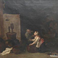 Arte: ESCUELA ESPAÑOLA S XVIII - XIX ESCENA DE BODEGA. Lote 120326731