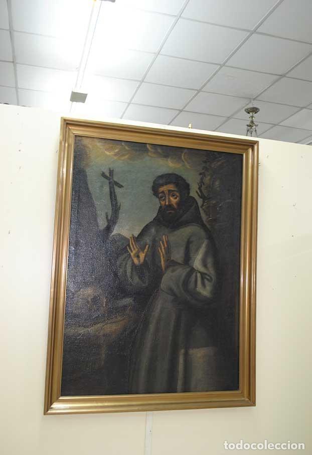ÓLEO SOBRE LIENZO SAN FRANCISCO - SIGLO XIX (Arte - Arte Religioso - Pintura Religiosa - Oleo)