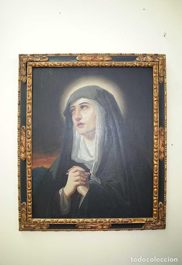 ÓLEO SOBRE LIENZO DOLOROSA (Arte - Arte Religioso - Pintura Religiosa - Oleo)