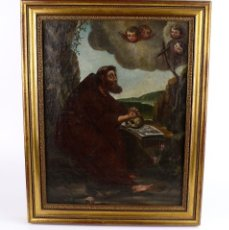 Arte: OLEO SOBRE LIENZO ANONIMO SIGLO XVIII..... SAN FRANCISCO ESCUELA ESPAÑOLA. Lote 99668423