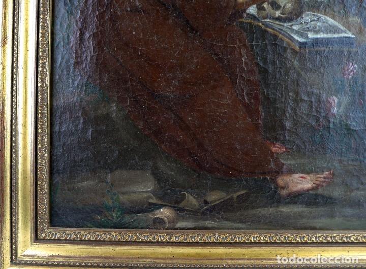 Arte: OLEO SOBRE LIENZO ANONIMO SIGLO XVIII..... SAN FRANCISCO ESCUELA ESPAÑOLA - Foto 5 - 99668423