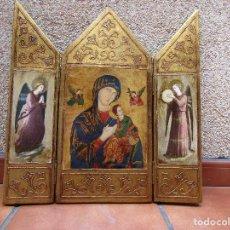 Arte: TRIPTICO DE NUESTRA SEÑORA DEL PERPETUO SOCORRO, AÑO APROXIMADO 1975.. Lote 120497223