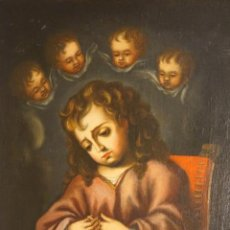 Arte: NIÑO JESÚS. NIÑO DE LA ESPINA. ÓLEO SOBRE LIENZO. ESC ESPAÑOLA. BARROCO. SIGLO XVII - XVIII.. Lote 120670131