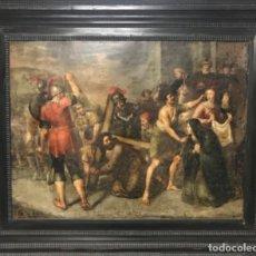 Arte: ÓLEO SOBRE COBRE SIGLO XVII MARCO HOLANDÉS ORIGINAL . Lote 120697235