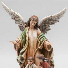 Arte: BELLISIMO ANGEL DE LA GUARDA TALLISTAS EXCLUSIVOS.FIBRA DE VIDRIO POLICROMADA.MEDIDAS:23,50X16X10CM.. Lote 120759992