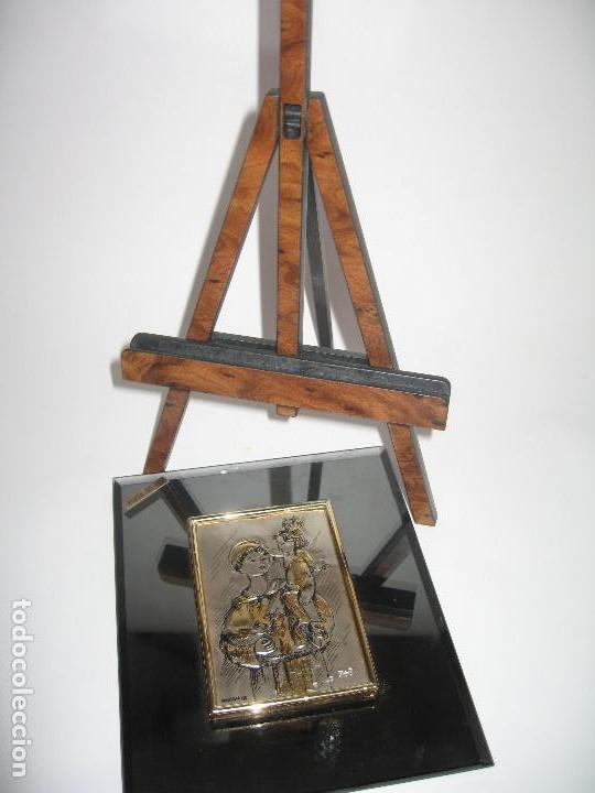 Arte: PLACA DE PLATA SOBRE CRISTAL DE SAN ANTONIO DE PADUA - Foto 3 - 120808427
