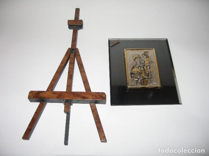 Arte: PLACA DE PLATA SOBRE CRISTAL DE SAN ANTONIO DE PADUA - Foto 4 - 120808427