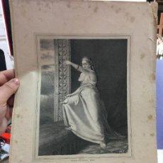 Arte: ANTIGUA LITOGRAFIA MUJERES CELEBRES FLORINDA - MEDIDA 36,5X26,5 CM. Lote 120815651