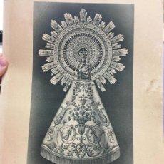 Arte: ANTIGUA LAMINA NUESTRA SEÑORA DEL PILAR - MEDIDA 31X21 CM. Lote 120832731