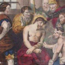 Arte: LITOGRAFÍA FRANCESA ILUMINADA. BECQUET (PARÍS) JESÚS CORONADO DE ESPINAS (SIGLO XIX) A. BULLA CÁDIZ. Lote 120890411