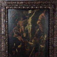 Arte: CRUCIFIXIÓN. ÓLEO SOBRE TELA. ANÓNIMO. ESCUELA FLAMENCA. SIGLO XVII-XVIII.. Lote 120898939