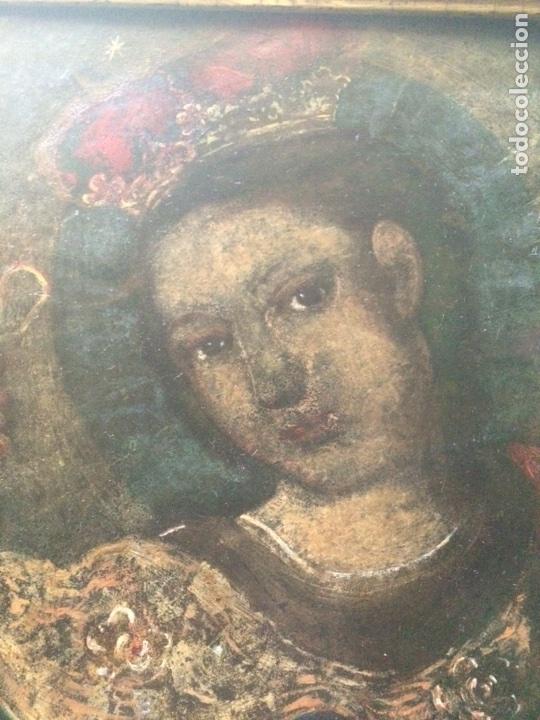 Arte: Oleo sobre cobre virgen con el niño de la bola - Foto 3 - 120929812