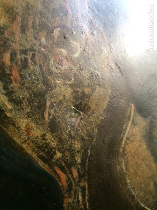 Arte: Oleo sobre cobre virgen con el niño de la bola - Foto 4 - 120929812