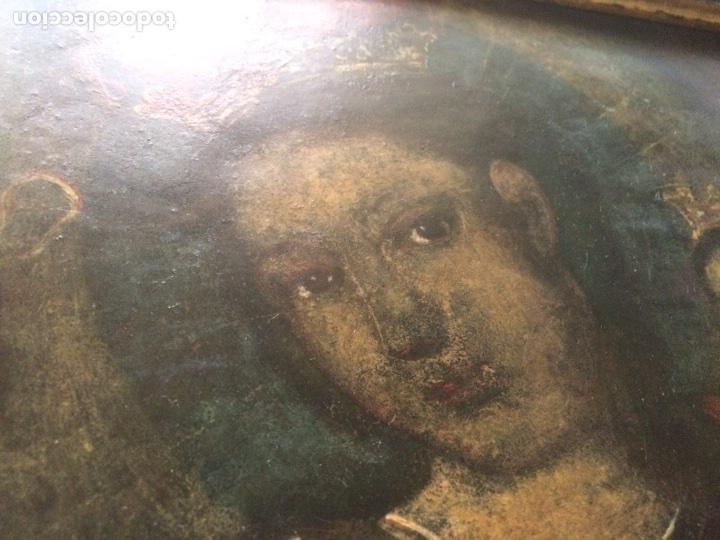 Arte: Oleo sobre cobre virgen con el niño de la bola - Foto 7 - 120929812