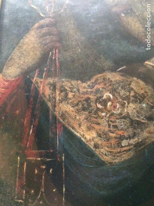 Arte: Oleo sobre cobre virgen con el niño de la bola - Foto 8 - 120929812