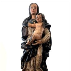 Arte: ESCULTURA EN TALLA POLICROMADA DE UNA VIRGEN CON NIÑO - S. XVII. Lote 121032207