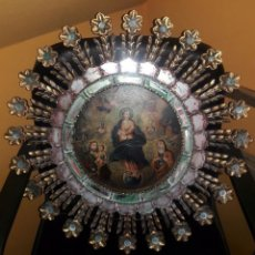 Arte: OLEO SOBRE LIENZO CORONACION DE LA VIRGEN ALEGORIA. Lote 121191643