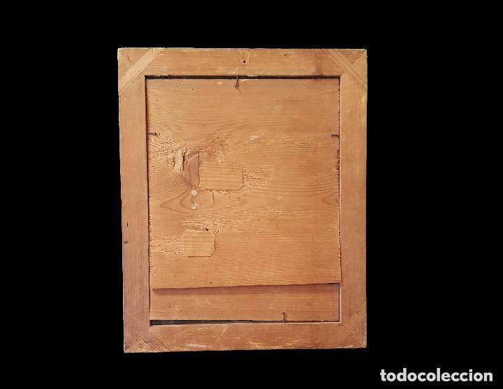 Arte: Antiguo óleo sobre cristal de San Antonio de Padua.Principios del siglo XVIII. Único. Perfecto.31x25 - Foto 2 - 121234175