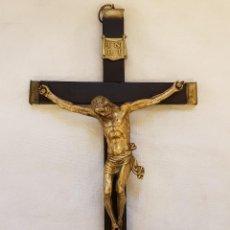 Arte: CRISTO CRUCIFIJO DE BRONCE. SIGLO XVI-XVII. Lote 121295815