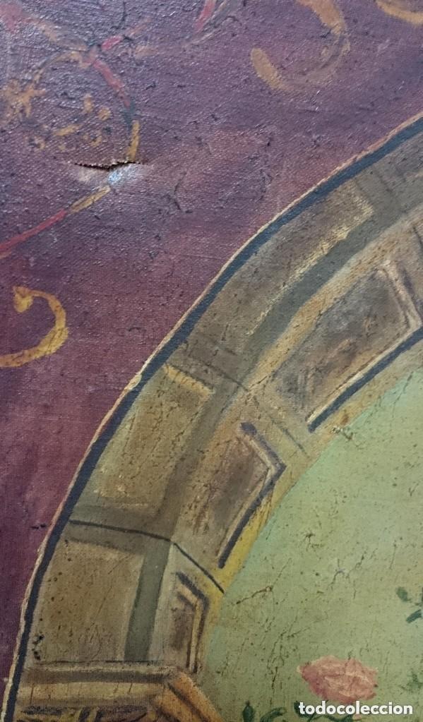 Arte: Antiguo óleo sobre lienzo Virgen de la Granada. 93x60cm - Foto 2 - 121325659