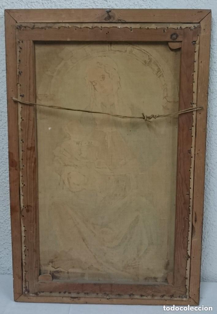 Arte: Antiguo óleo sobre lienzo Virgen de la Granada. 93x60cm - Foto 3 - 121325659