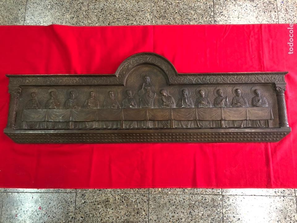 PRECIOSA ULTIMA CENA DE JESUS DE BRONCE MACIZO DE FUNDICION,FIRMADA JOSEP Mª CAMPS I ARNAU.122CM. (Arte - Arte Religioso - Escultura)