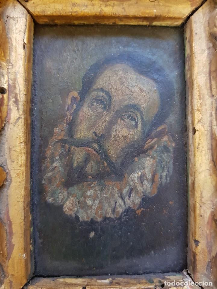 Arte: Óleo sobre cobre siglo XVII. Personaje de El Entierro del Conde de Orgaz. - Foto 3 - 121295255