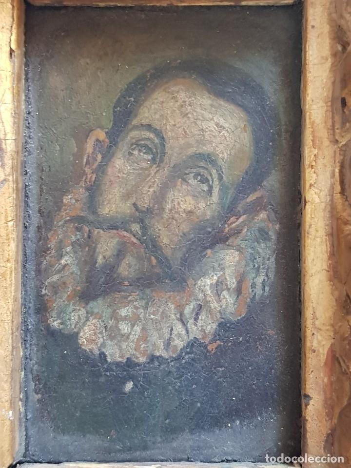 Arte: Óleo sobre cobre siglo XVII. Personaje de El Entierro del Conde de Orgaz. - Foto 4 - 121295255