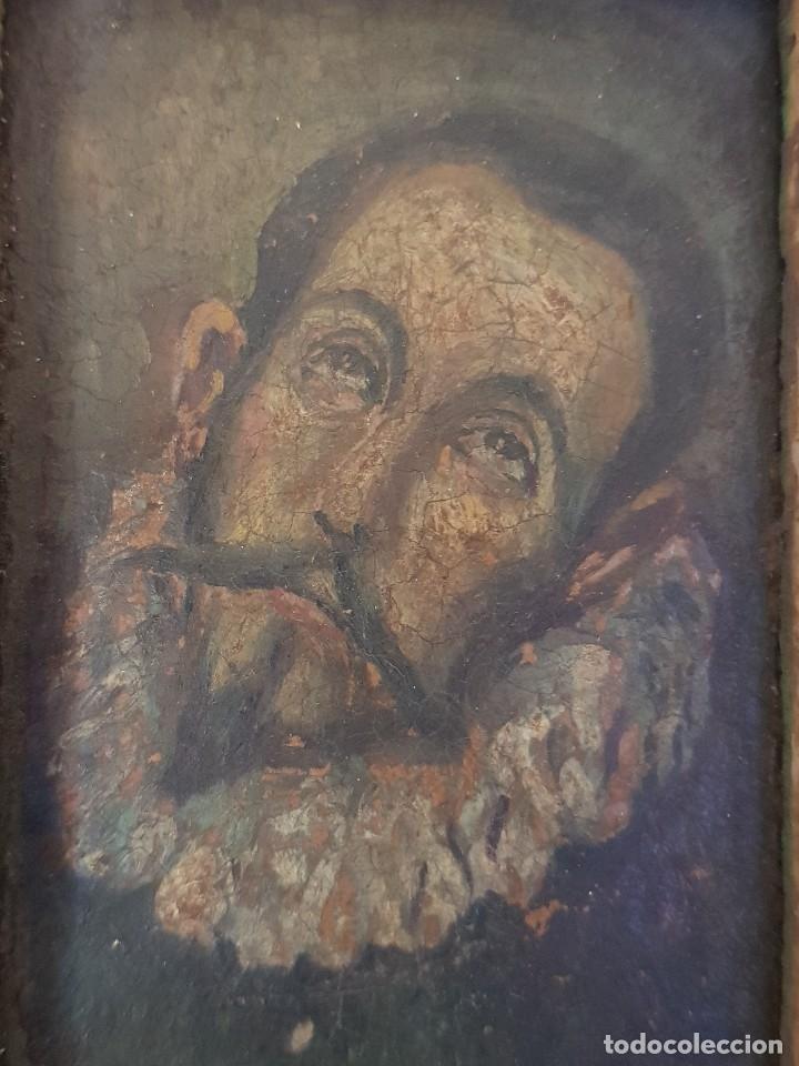 Arte: Óleo sobre cobre siglo XVII. Personaje de El Entierro del Conde de Orgaz. - Foto 7 - 121295255