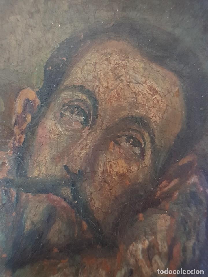 Arte: Óleo sobre cobre siglo XVII. Personaje de El Entierro del Conde de Orgaz. - Foto 8 - 121295255