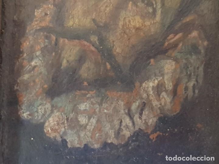 Arte: Óleo sobre cobre siglo XVII. Personaje de El Entierro del Conde de Orgaz. - Foto 9 - 121295255
