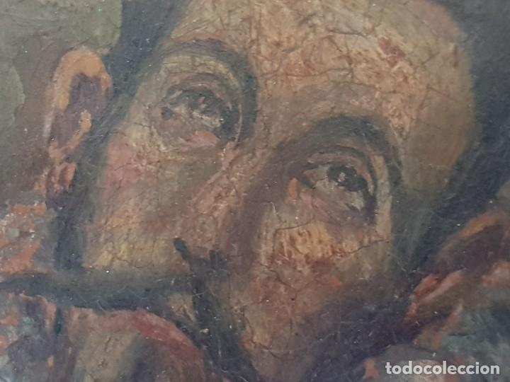 Arte: Óleo sobre cobre siglo XVII. Personaje de El Entierro del Conde de Orgaz. - Foto 10 - 121295255