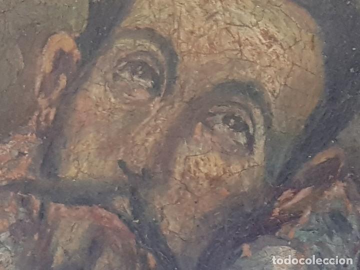 Arte: Óleo sobre cobre siglo XVII. Personaje de El Entierro del Conde de Orgaz. - Foto 12 - 121295255