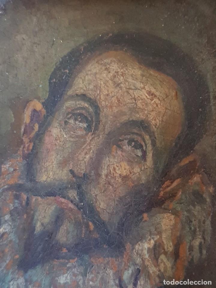Arte: Óleo sobre cobre siglo XVII. Personaje de El Entierro del Conde de Orgaz. - Foto 13 - 121295255