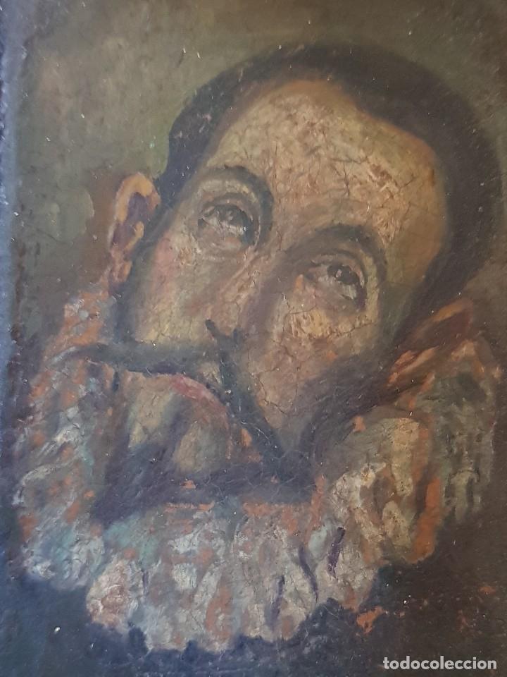 Arte: Óleo sobre cobre siglo XVII. Personaje de El Entierro del Conde de Orgaz. - Foto 14 - 121295255