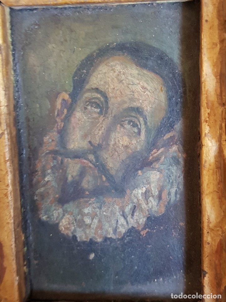 Arte: Óleo sobre cobre siglo XVII. Personaje de El Entierro del Conde de Orgaz. - Foto 15 - 121295255