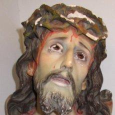 Arte: ANTIGUO BUSTO SANTO CRISTO DE LIMPIAS, EL ARTE CRISTIANO, OLOT, 33 CMTS.. Lote 121398859