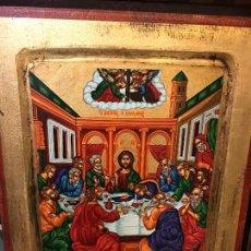 Arte: ICONO DE LOS APOSTOLES, PINTADO A MANO. Lote 121448747