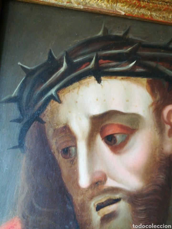 Arte: Ecce Homo. Oleo sobre cobre, Siglo XVII. - Foto 5 - 66838765