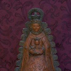 Arte: FIGURA DE LA VIRGEN DEL ROCIO PATINADA DE 46 CTM. Lote 121551419