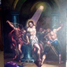 Arte: CRISTO ATADO A LA COLUMNA. FLAGELACIÓN. POR JOLOGA. 81X65. ELIGE MARCO A TU GUSTO.. Lote 121557335