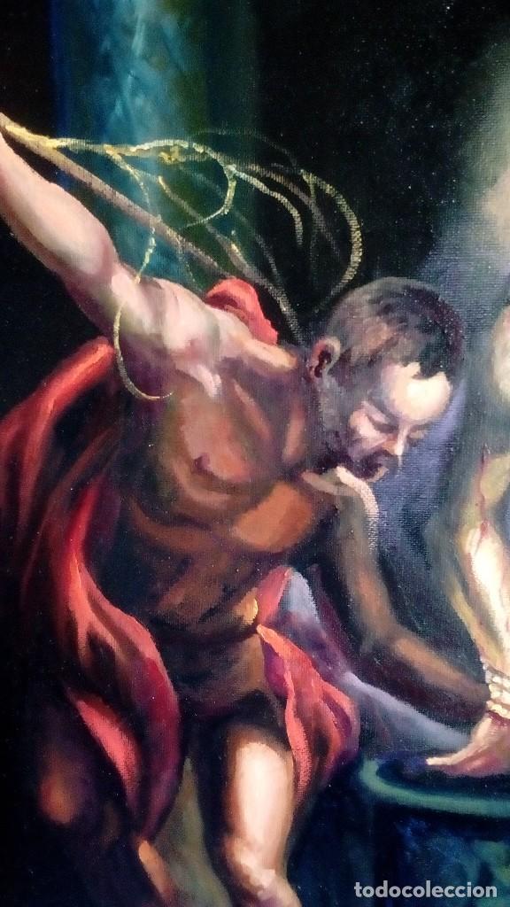 Arte: CRISTO ATADO A LA COLUMNA. FLAGELACIÓN. POR JOLOGA. 81X65. ELIGE MARCO A TU GUSTO. - Foto 3 - 121557335