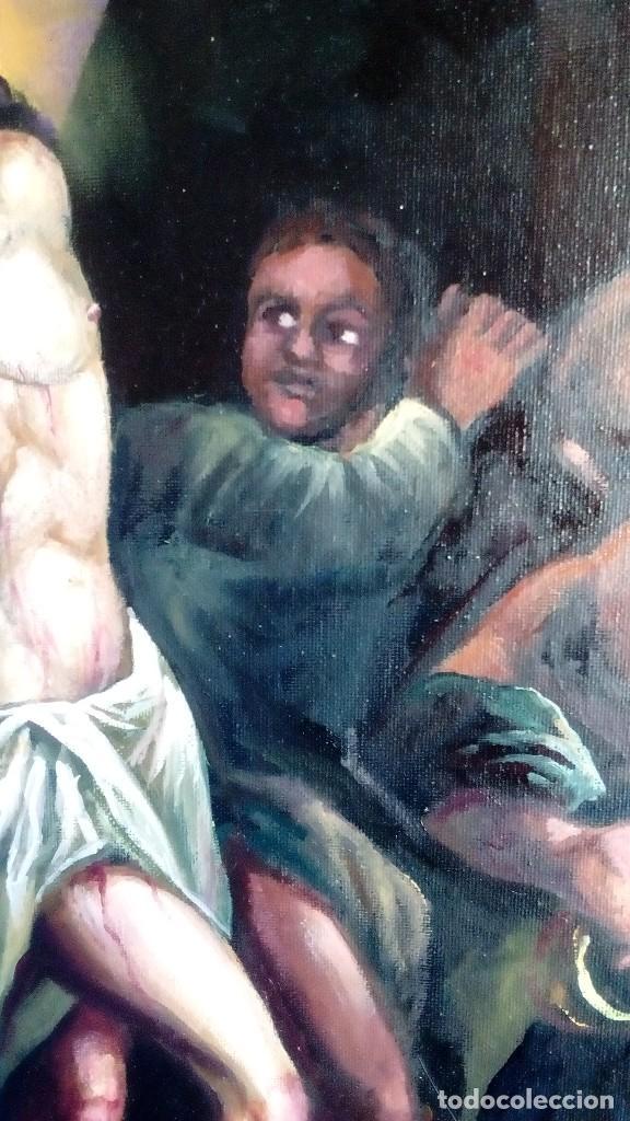 Arte: CRISTO ATADO A LA COLUMNA. FLAGELACIÓN. POR JOLOGA. 81X65. ELIGE MARCO A TU GUSTO. - Foto 4 - 121557335