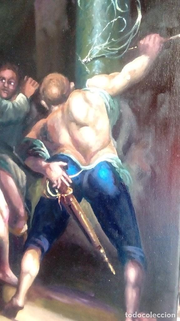 Arte: CRISTO ATADO A LA COLUMNA. FLAGELACIÓN. POR JOLOGA. 81X65. ELIGE MARCO A TU GUSTO. - Foto 5 - 121557335