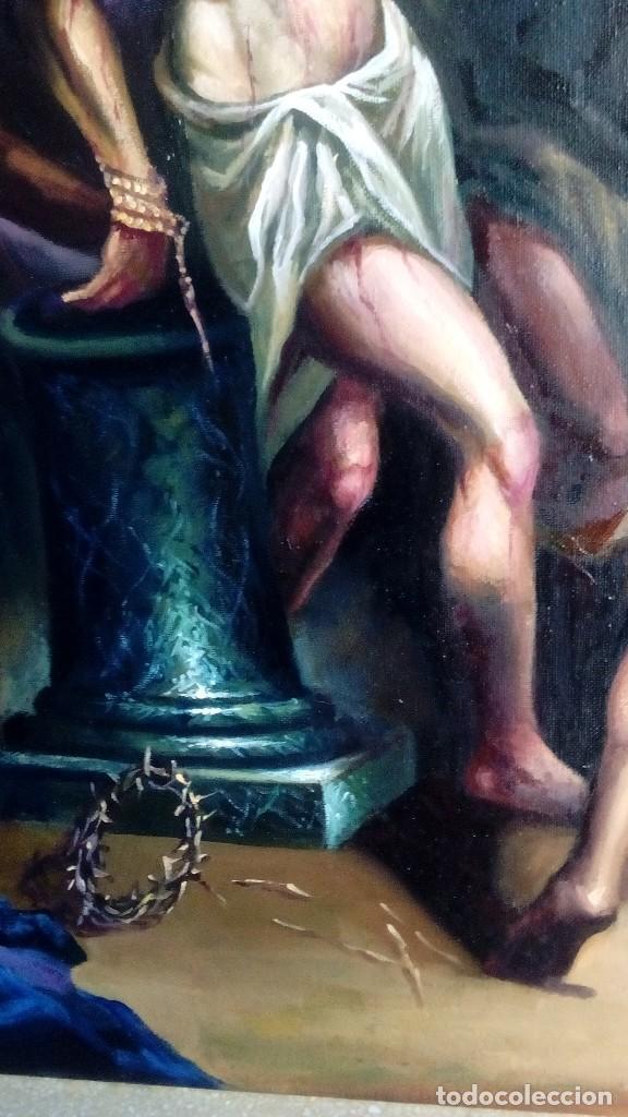 Arte: CRISTO ATADO A LA COLUMNA. FLAGELACIÓN. POR JOLOGA. 81X65. ELIGE MARCO A TU GUSTO. - Foto 6 - 121557335