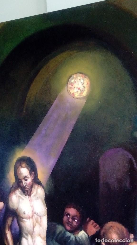 Arte: CRISTO ATADO A LA COLUMNA. FLAGELACIÓN. POR JOLOGA. 81X65. ELIGE MARCO A TU GUSTO. - Foto 7 - 121557335
